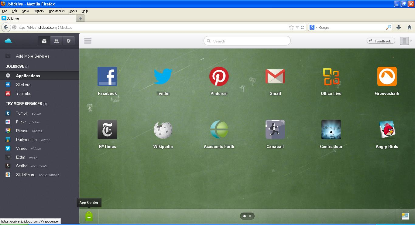 Joli cloud OS screenshot