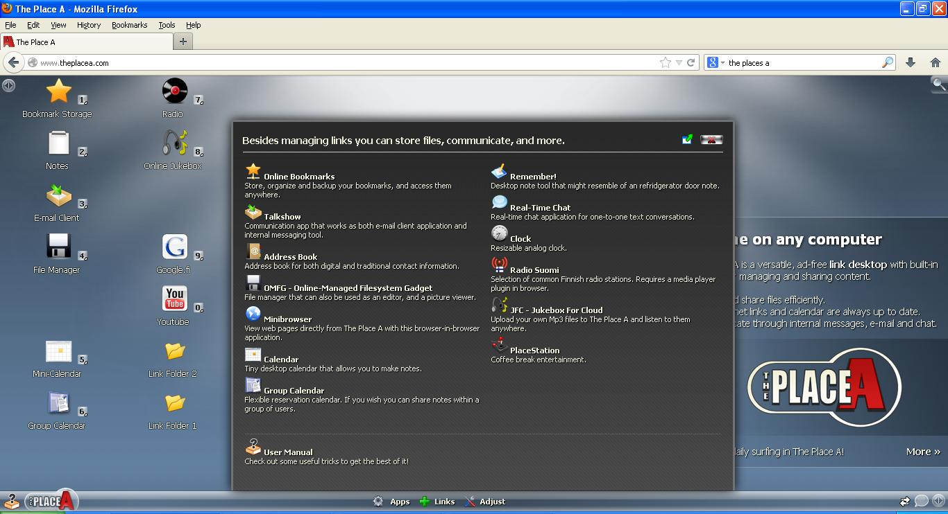 Cloud OS - Place A OS Screenshot